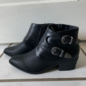 Express Double Buckle Western Boots